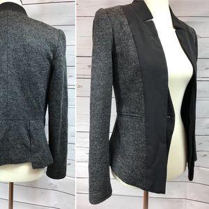 Anthro Elevenses Wool Blazer—needs button